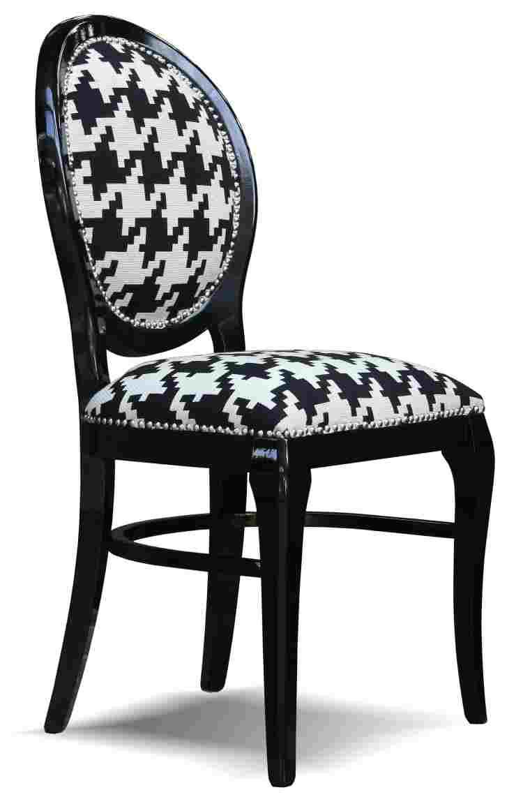 chaise pied de poule images. Black Bedroom Furniture Sets. Home Design Ideas